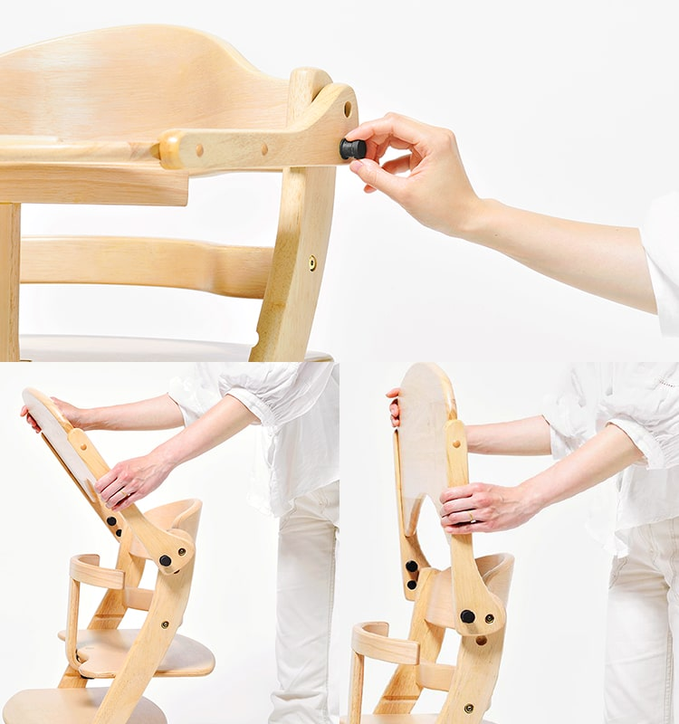 テーブルの固定には、簡単ロックを採用