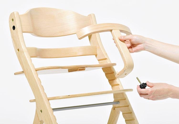 転落防止のガードは工具不要で簡単に取り外しできます