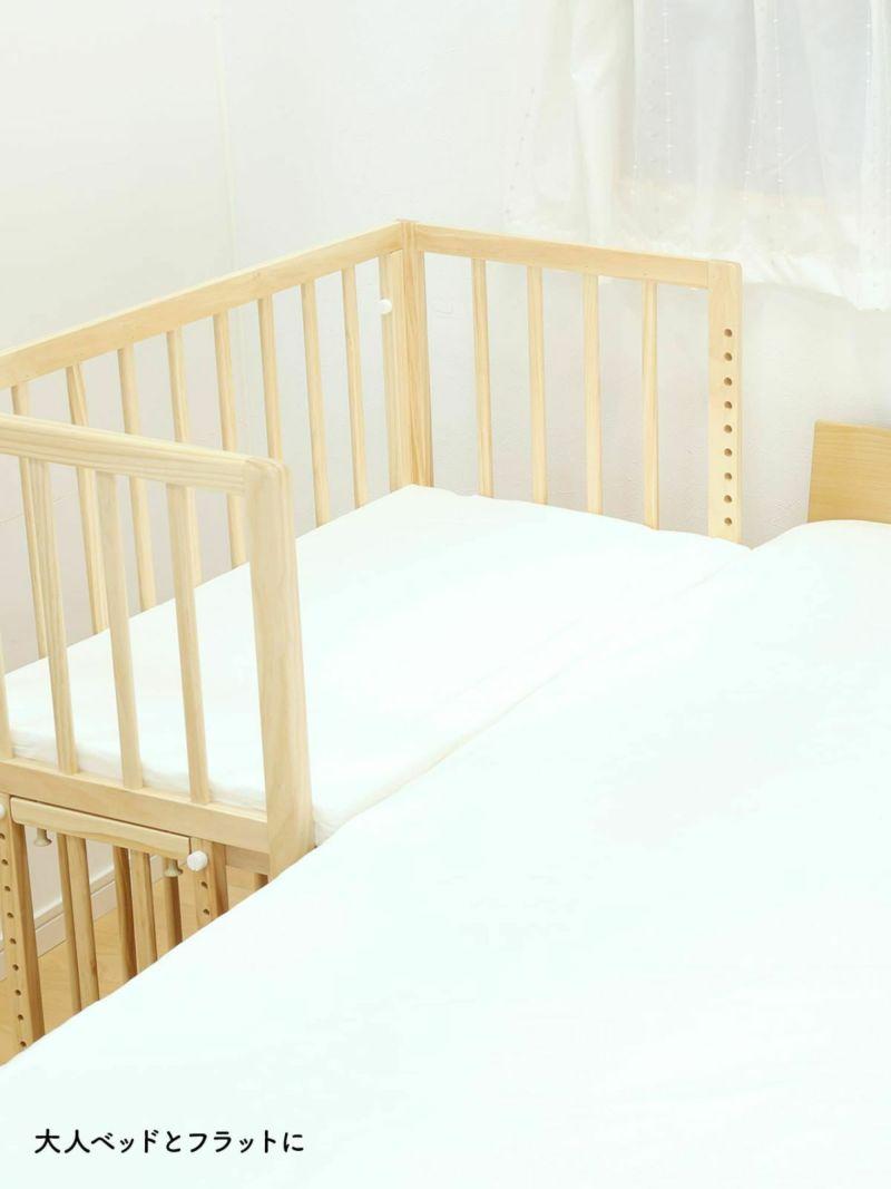 敷きマット使用イメージ_大人ベッドとフラットに
